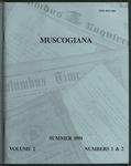 Muscogiana Vol. 2(1&2), Summer 1991