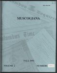 Muscogiana Vol. 2(3&4), Fall 1991