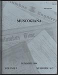 Muscogiana Vol. 5(1&2), Summer 1994