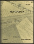 Muscogiana Vol. 7(3&4), Fall 1996 by Callie McGinnis