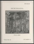 Muscogiana Vol. 21(2), Fall 2010 by Gary S. Sprayberry